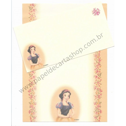 Conjunto de Papel de Carta Antigo Vintage Disney - Snow White