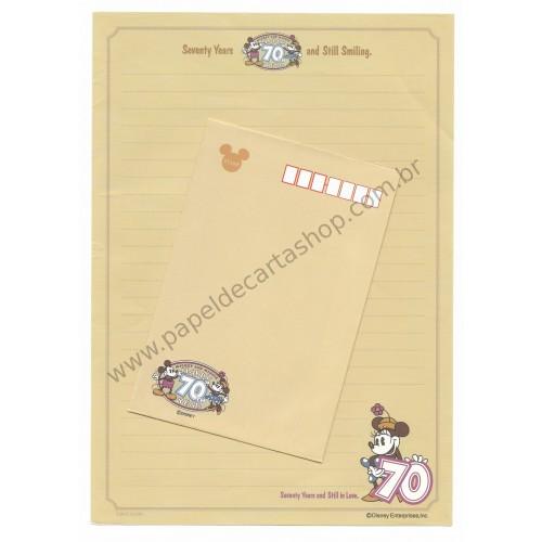 Conjunto de Papel de Carta VINTAGE Disney - 70th Anniversary