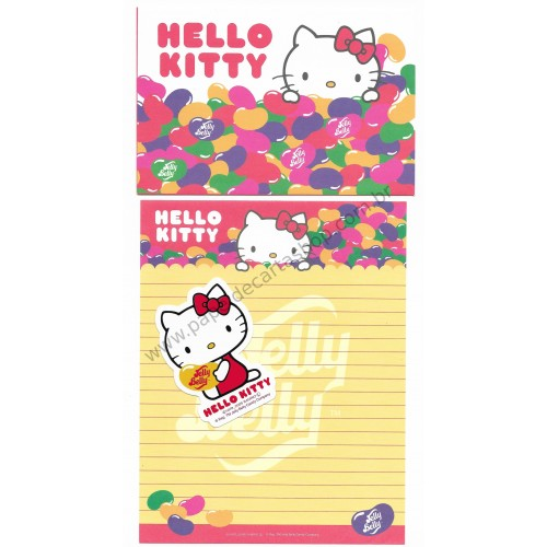 Ano 2009. Conjunto de Papel de Carta Hello Kitty Jelly Belly (AMG) Sanrio
