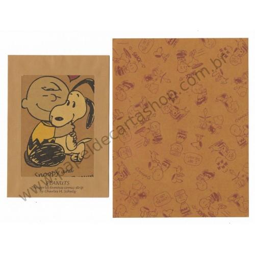 Conjunto de Papel de Carta Kraft Snoopy and Charlie Brown - Peanuts