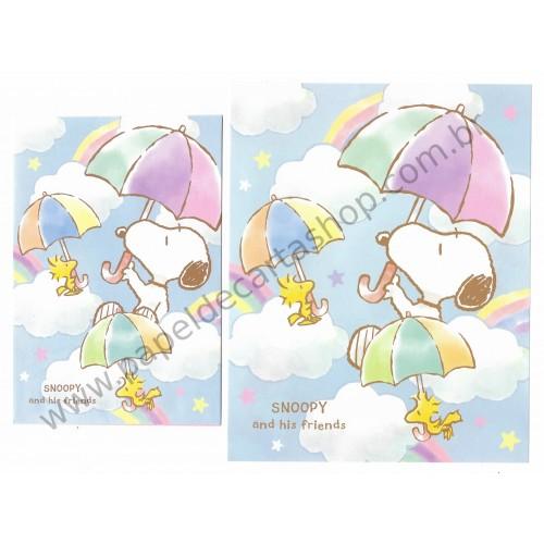 Conjunto de Papel de Carta Snoopy and His Friends Umbrella - Peanuts