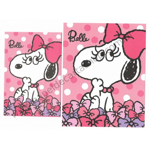 Conjunto de Papel de Carta Peanuts with Belle - Peanuts