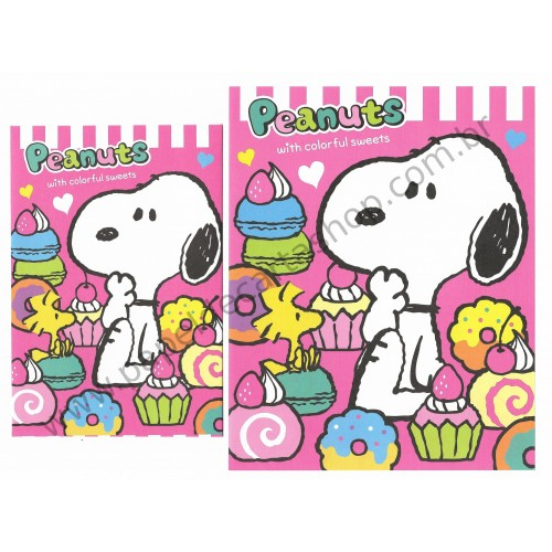 Conjunto de Papel de Carta Snoopy with Colorful Sweets - Peanuts