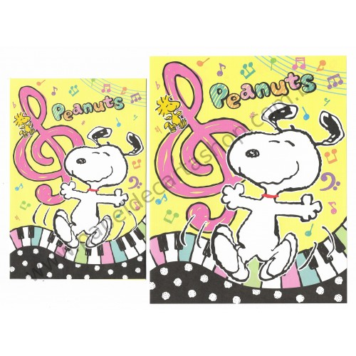 Conjunto de Papel de Carta Snoopy with Music - Peanuts