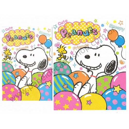 Conjunto de Papel de Carta Peanuts with Cute Friends - Peanuts