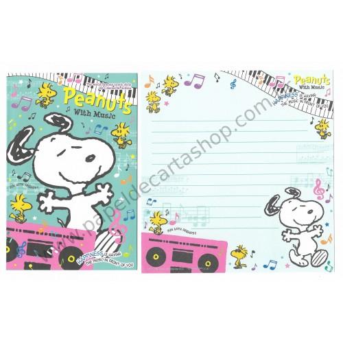 Kit 4 Conjuntos de Papéis de Carta Peanuts Co Jp with Music (GR)