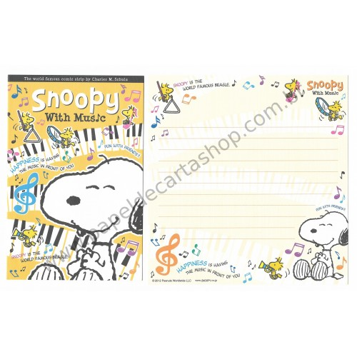 Kit 4 Conjuntos de Papéis de Carta Peanuts Co Jp with Music (YW)