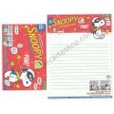 Kit 4 Conjuntos de Papéis de Carta Snoopy the Masked Marvel Red Peanuts