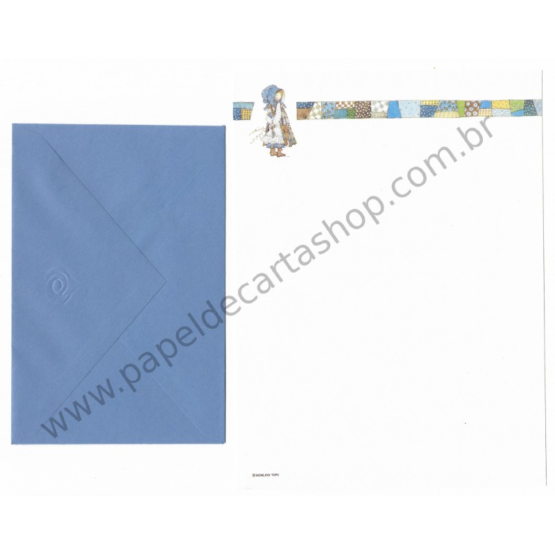 Conjunto de Papel de Carta ANTIGO Holly Hobbie - M11