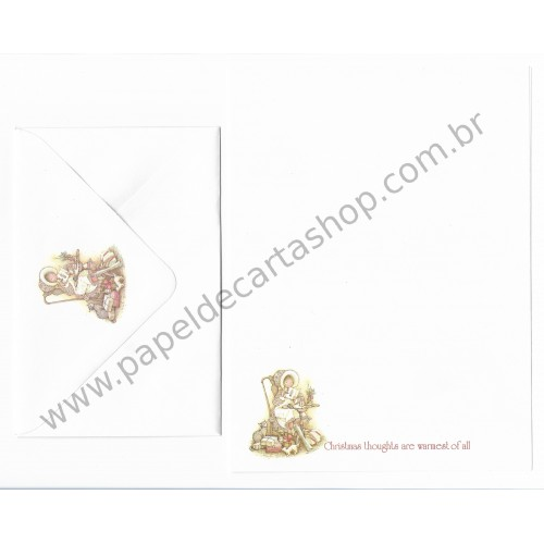 Conjunto de Papel de Carta ANTIGO Holly Hobbie - M3