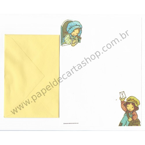 Conjunto de Papel de Carta Antigo Holly Hobbie - M4