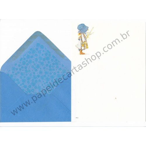 Conjunto de Papel de Carta ANTIGO Holly Hobbie M19
