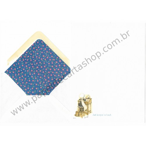 Conjunto de Papel de Carta Antigo Holly Hobbie M21