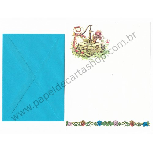 Conjunto de Papel de Carta ANTIGO Holly Hobbie M26