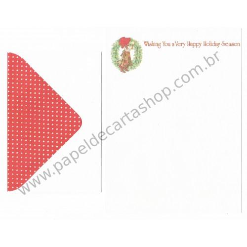 Conjunto de Papel de Carta ANTIGO Holly Hobbie M30