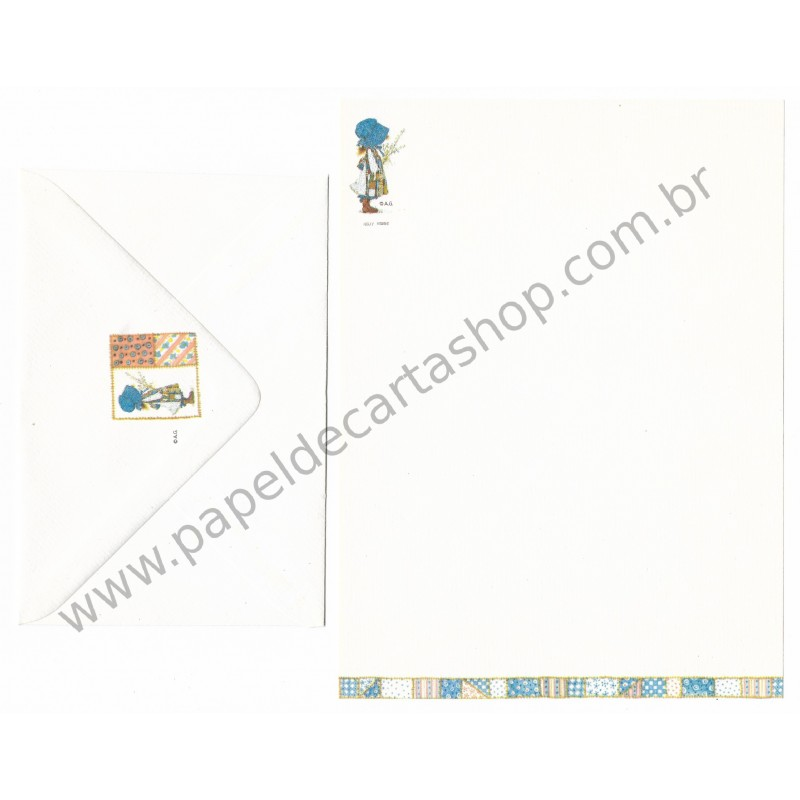 Conjunto de Papel de Carta ANTIGO Holly Hobbie M31