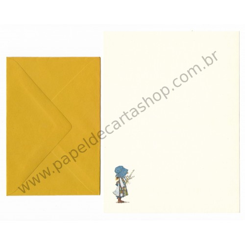 Conjunto de Papel de Carta ANTIGO Holly Hobbie M24