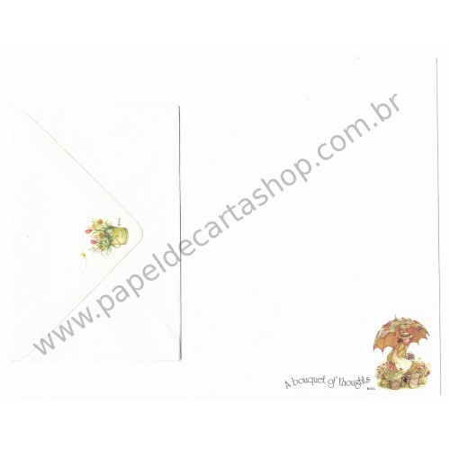 Conjunto de Papel de Carta ANTIGO Holly Hobbie M32