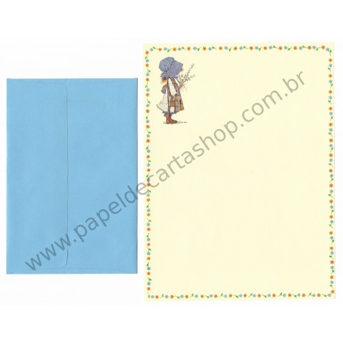 Conjunto de Papel de Carta ANTIGO Holly Hobbie M33