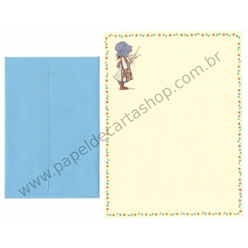 Conjunto de Papel de Carta ANTIGO Holly Hobbie M33