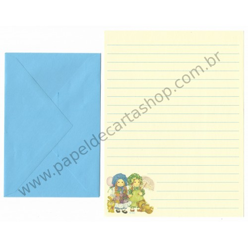 Conjunto de Papel de Carta ANTIGO Holly Hobbie M34