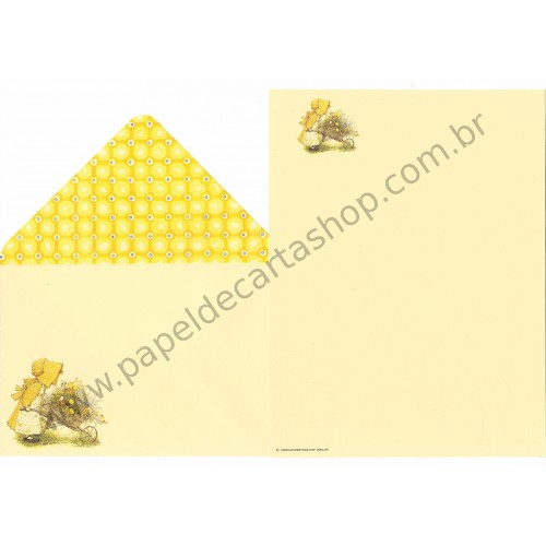 Conjunto de Papel de Carta ANTIGO Holly Hobbie M36