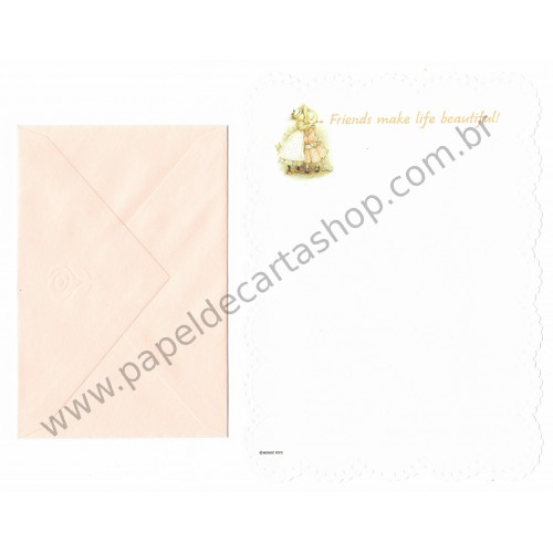 Conjunto de Papel de Carta ANTIGO Holly Hobbie M37