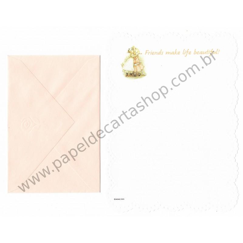 Conjunto de Papel de Carta ANTIGO Holly Hobbie M37