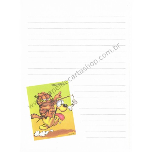Papel de Carta Avulso Garfield Run Baby Run - Paws