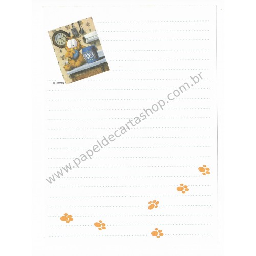 Papel de Carta Avulso Garfield Cookies - Paws
