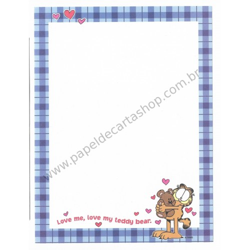 Papel de Carta Avulso Garfield Love My Teddy Bear - Paws