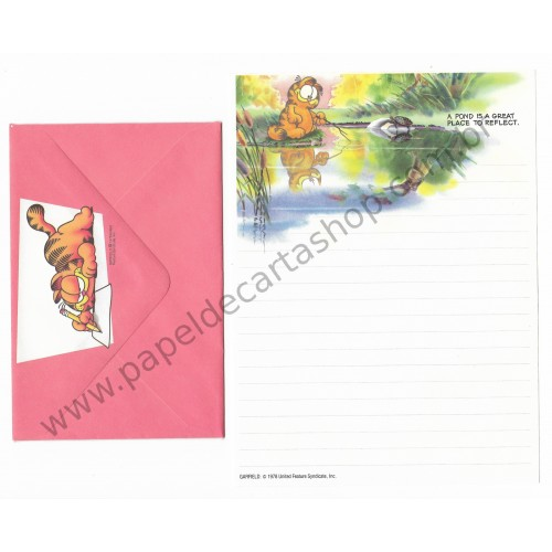 Conjunto de Papel de Carta Garfield and a Pond - Paws