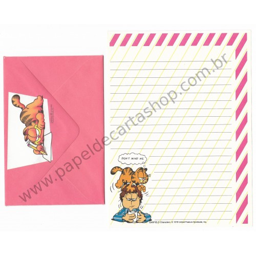 Conjunto de Papel de Carta Garfield Don't Mind Me - Paws
