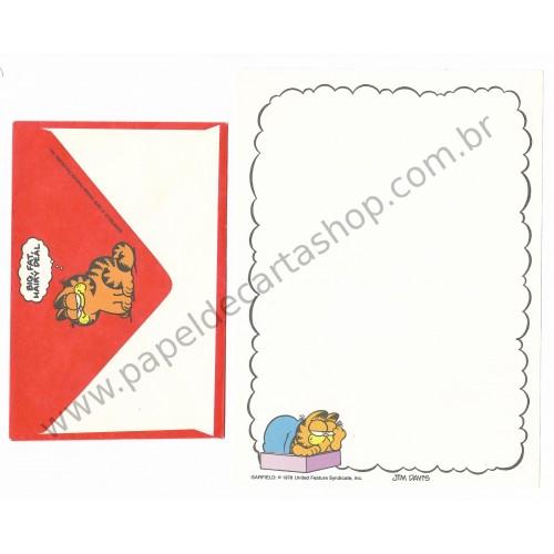Conjunto de Papel de Carta Garfield Resting - Paws