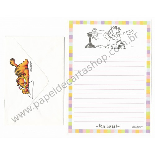 Conjunto de Papel de Carta Garfield Fan Mail - Paws