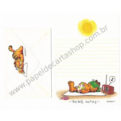 Conjunto de Papel de Carta Garfield Beach Notes - Paws