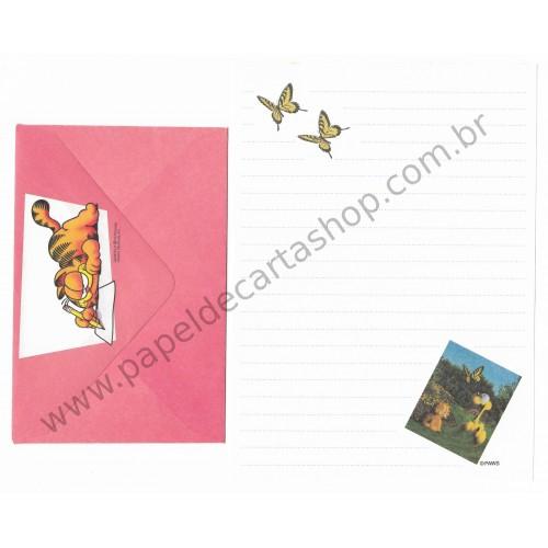 Conjunto de Papel de Carta Garfield & Butterflies - Paws
