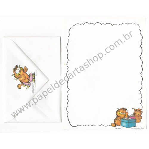 Conjunto de Papel de Carta Garfield Studying With Friends - Paws