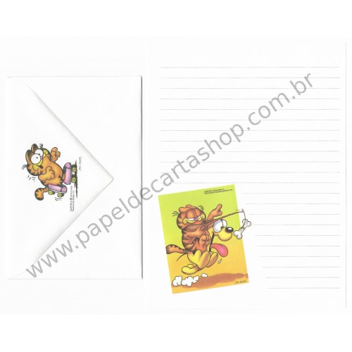 Conjunto de Papel de Carta Garfield Run Baby Run - Paws