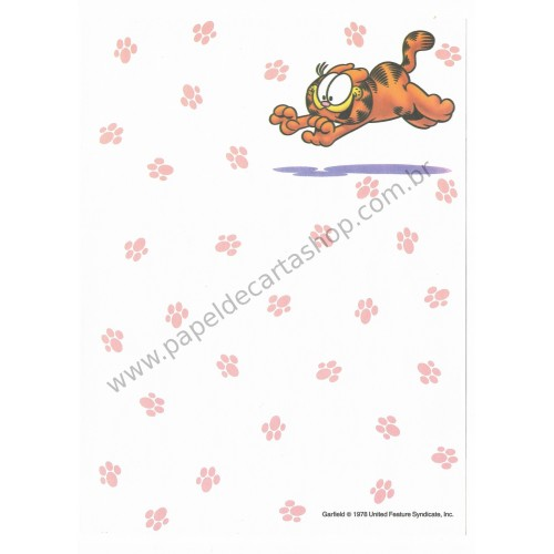 Papel de Carta Avulso Garfield 2 - Paws
