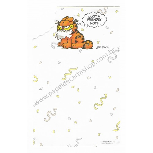 Papel de Carta Avulso Garfield Bite 1 - Paws