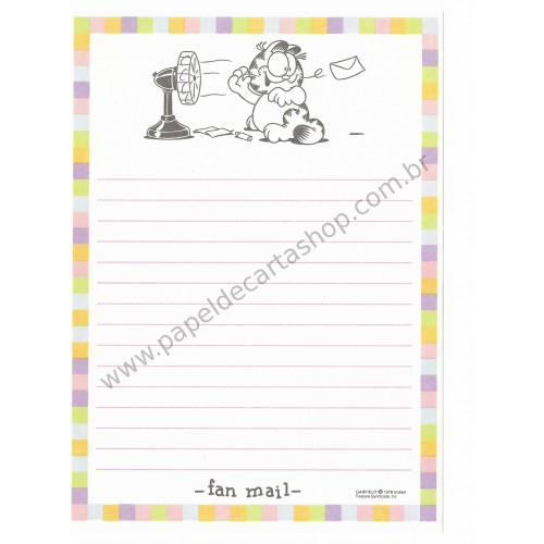 Papel de Carta Avulso Garfield Fan Notes - Paws