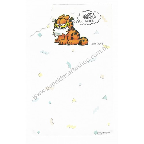 Papel de Carta Avulso Garfield Bite 2 - Paws