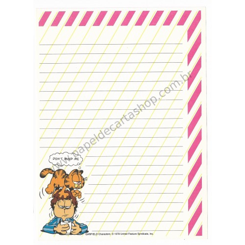 Papel de Carta Avulso Garfield Don't Mind Me - Paws
