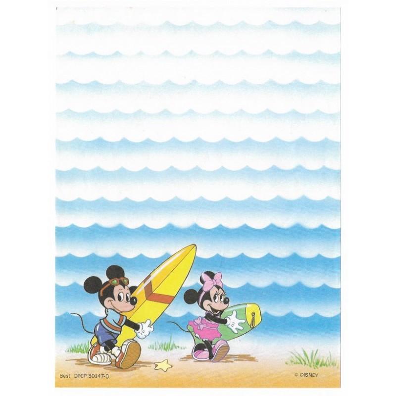 Papel de Carta Antigo Disney Mickey & Minnie Surf - Best Cards