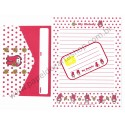 Ano 1998. Conjunto de Papel de Carta My Melody Polka Dot Red Antigo (Vintage) Sanrio