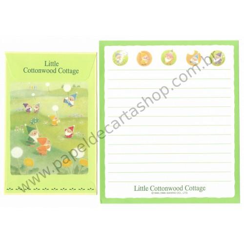 Ano 1995. Conjunto de Papel de Carta Little Cottonwood Cottage Sanrio