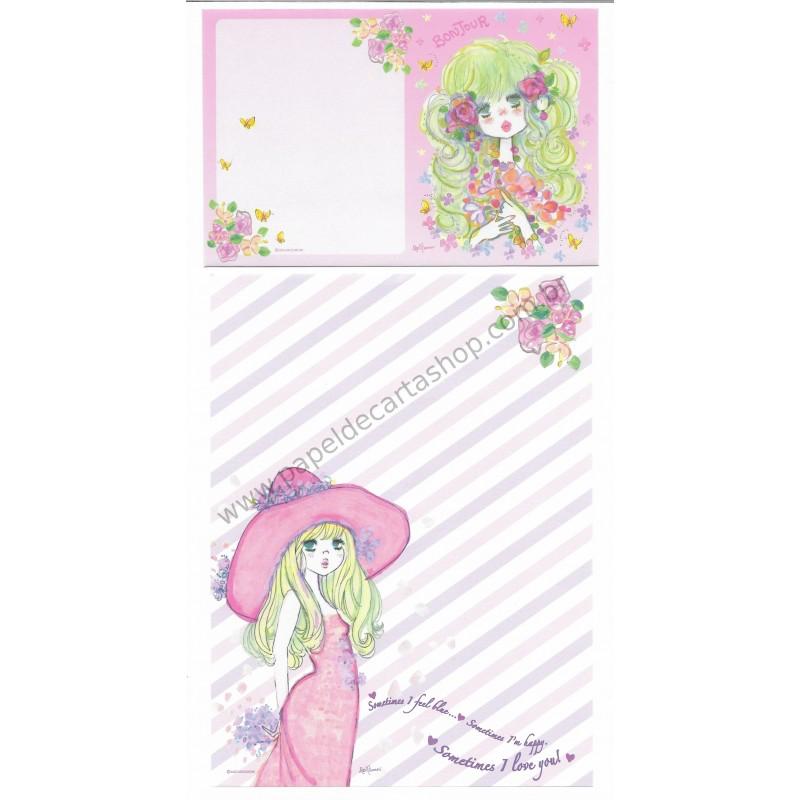 Conjunto de Papel de Carta com envelope ADO MIZUMORI 0009