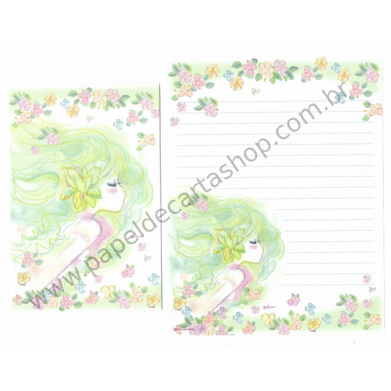 Conjunto de Papel de Carta com envelope ADO MIZUMORI 0013