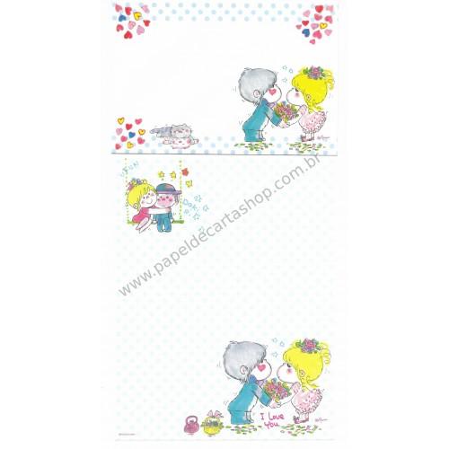 Conjunto de Papel de Carta com envelope ADO MIZUMORI 0023